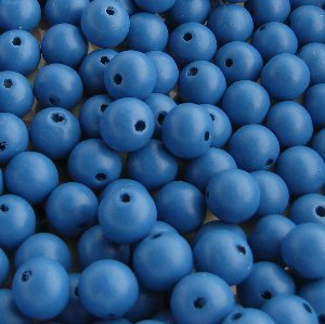 Wooden beads, blue 8mm, 100 pcs