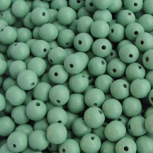 Wooden beads light green 6mm, 100 pcs