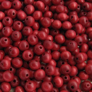 Wooden beads, red 6mm, 100 pc