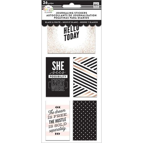 Happy planner Medium Flip Stickers Black And White