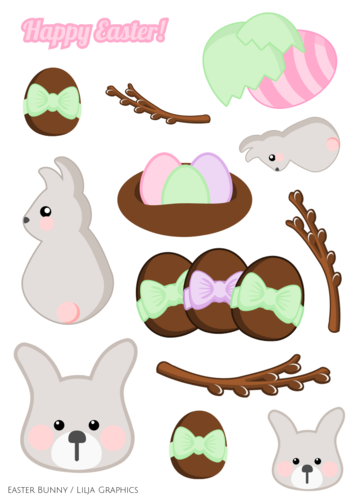 Lilja Graphics Easter bunny