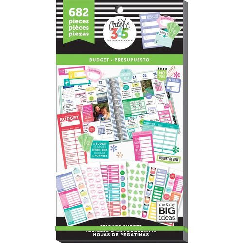 Tarra-kirja Happy Planner -54  Budget fill in