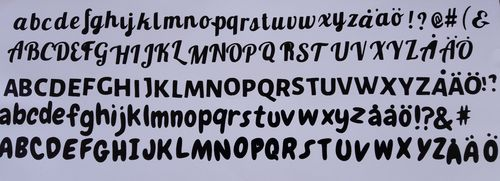 Remember ABC; font galada small green