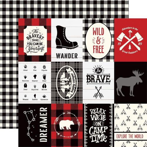 "Little Lumberjack 3"" x 4"" journaling cards"