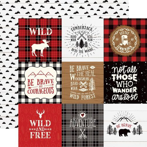 "Little Lumberjack 4"" x 4"" journaling cards"
