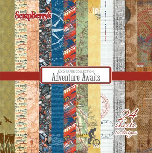 "Adventure Awaits 6"" paper collection set"