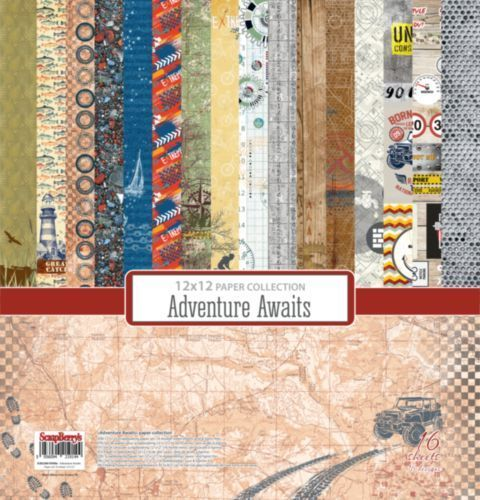 Adventure Awaits  Paper Collection Set 12""