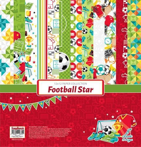 Football star Paper Collection Set 12""