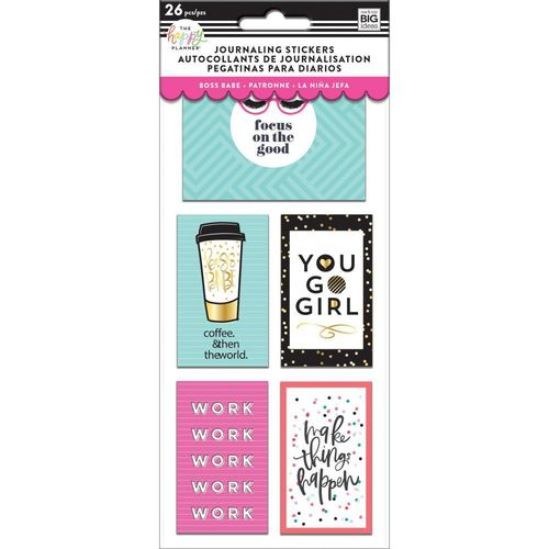 Happy planner Medium Flip Stickers Boss Babe