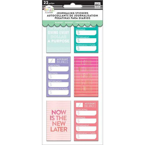 Happy planner Medium Flip Stickers Budget