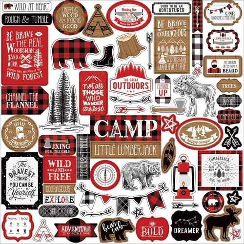 "Lumberjack 12"" Sticker sheet"