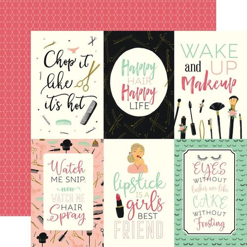 "Salon, 12"" doublesided paper, 4""x6"" Journaling cards"