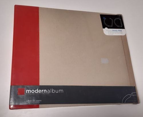 "12"" D-ring album, red"