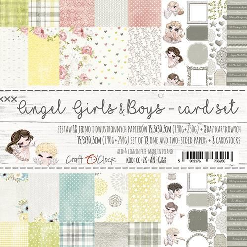 Angel Girls and Boys card set